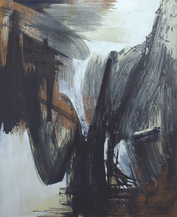Objects and Life no.3, oil, acrylic, and toilet  brush on wood, 120 x 100 cm., 2011.JPG