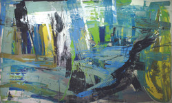Massive Flooding No. 2, 2011, acrylic, oil, enamel and crayon on canvas, 270 X 450 cm..JPG