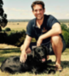 Clay Watson and Maizy the labrador
