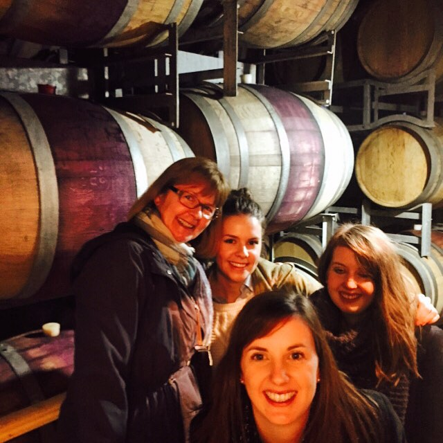 Barrels of laughs & fun! _daylesfordwinetours #thisiswherewinecomesfrom