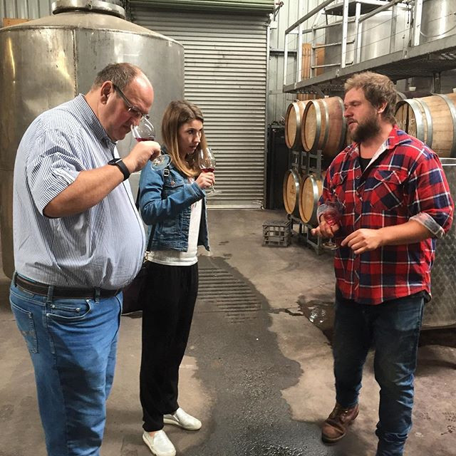 Daylesford Wine Tours clients tasting from the barrel