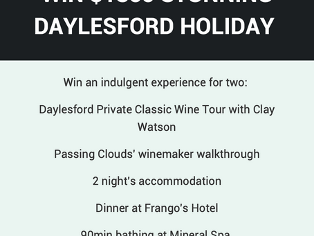 Competition for $1860 Daylesford Holiday