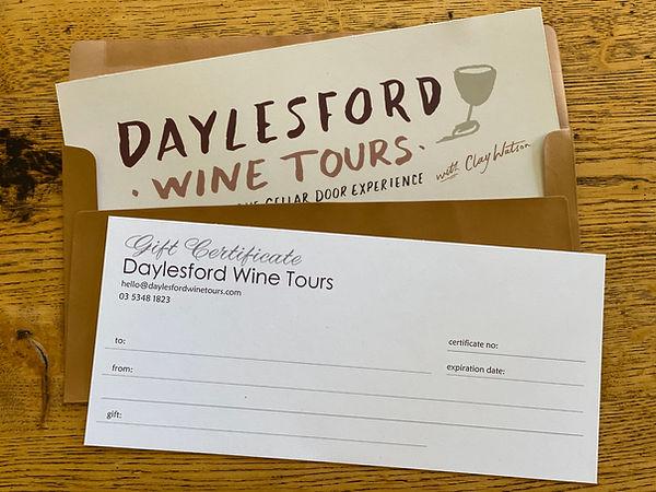 Daylesford Wine Tour Gift Certificate.jp