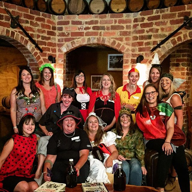 Awesome bunch today well done chicks on #fancy #dress #fun _daylesfordwinetours #hens #hensnight #wi