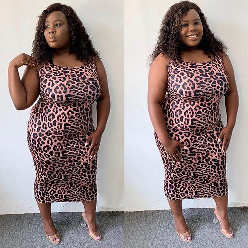 Leo Leopard brown Dress