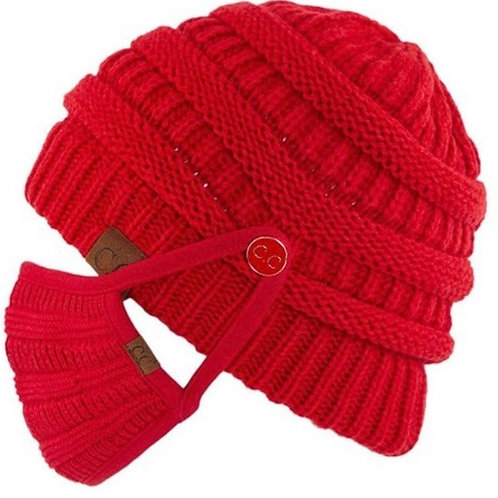 CC Beanie with buttons