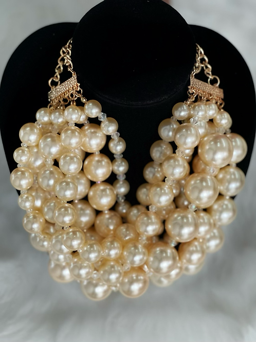 Chunky Pearl Necklace-set