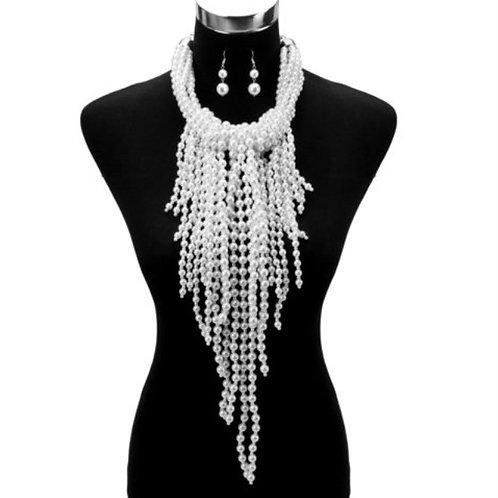 Elegant Pearl Necklace-set