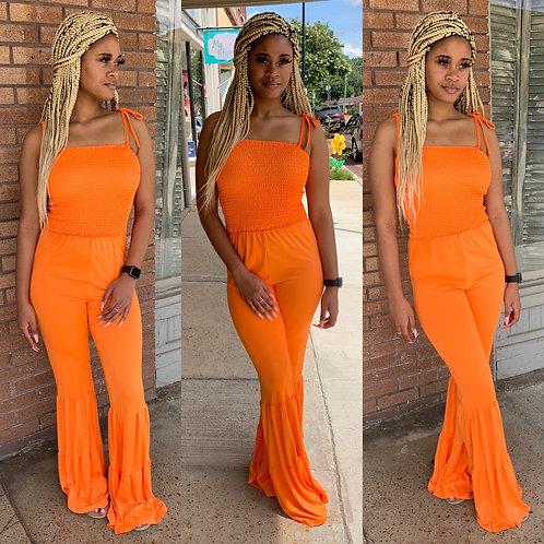Delight orange Jumpsuit
