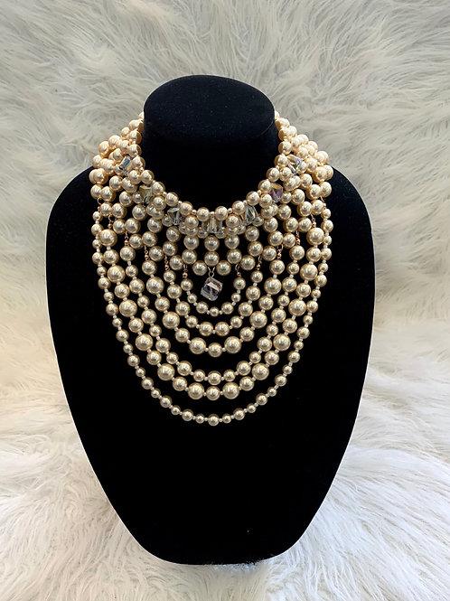 Bib Pearl Necklace