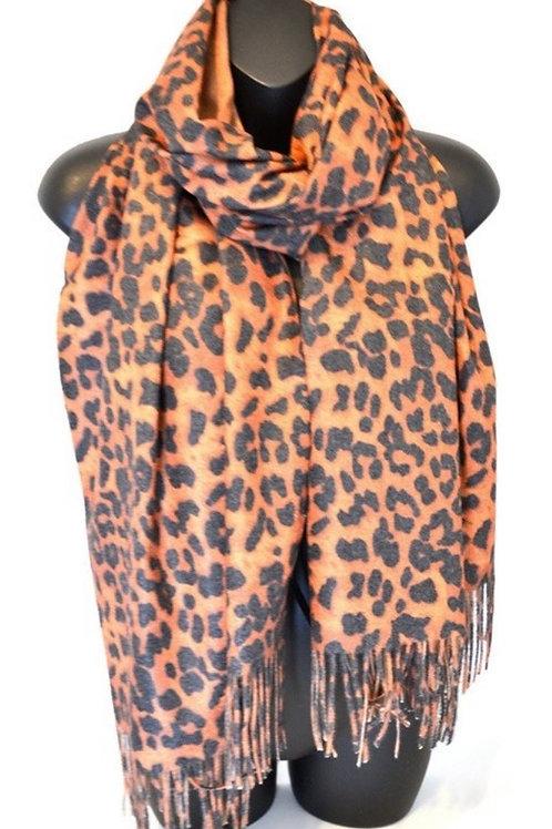 Leo Leopard Scarf