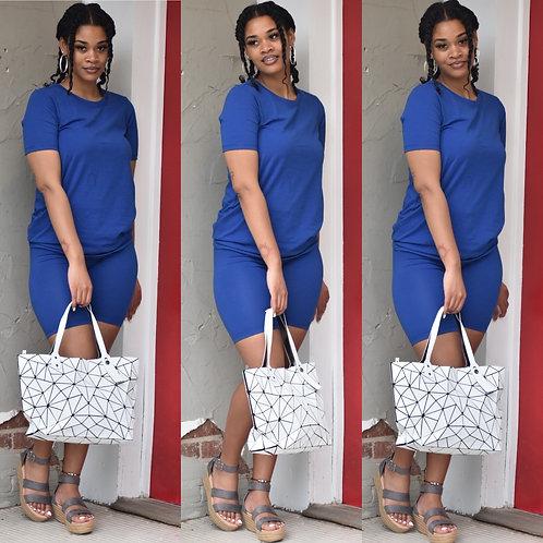 Blue Basic Short-set