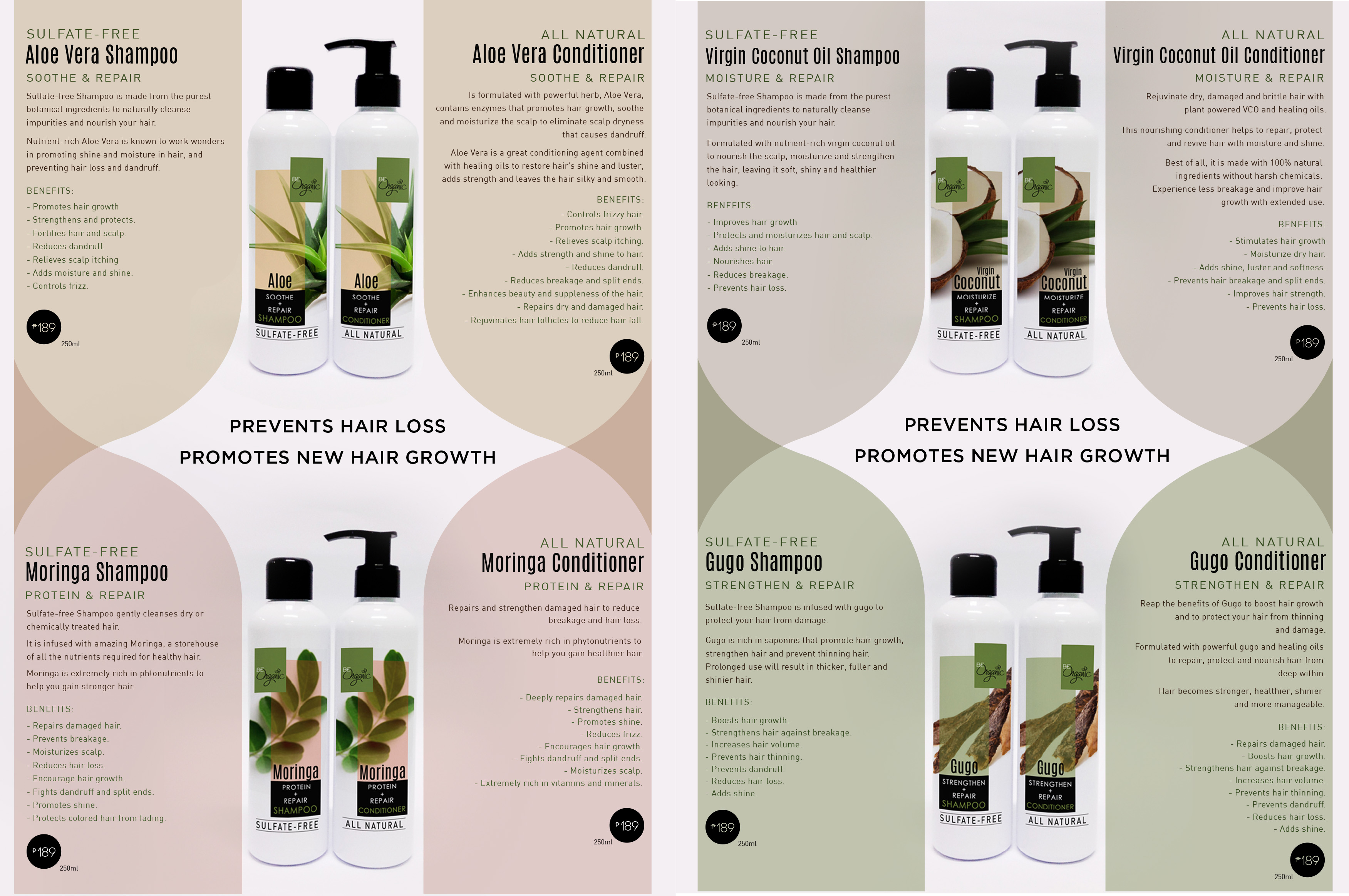 All Natural Shampoos and Conditioners
