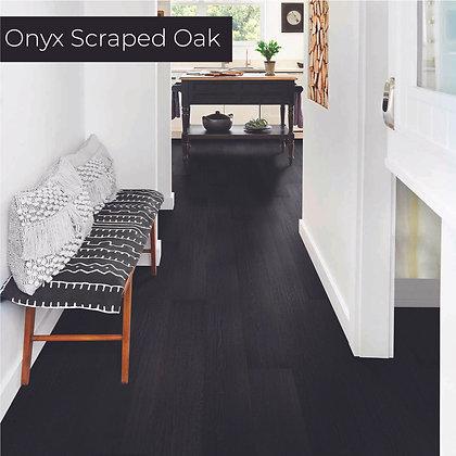 Onyx Scraped Oak Laminate Flooring, Sample