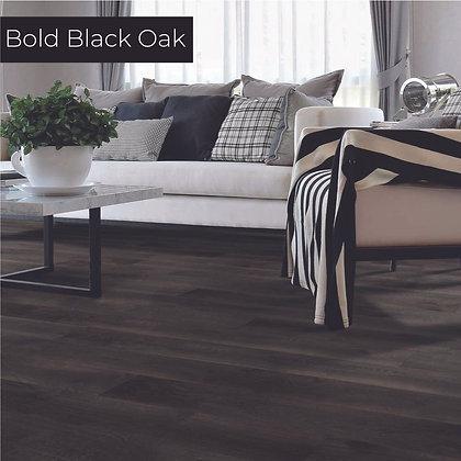 Bold Black Oak Laminate Flooring, Sample