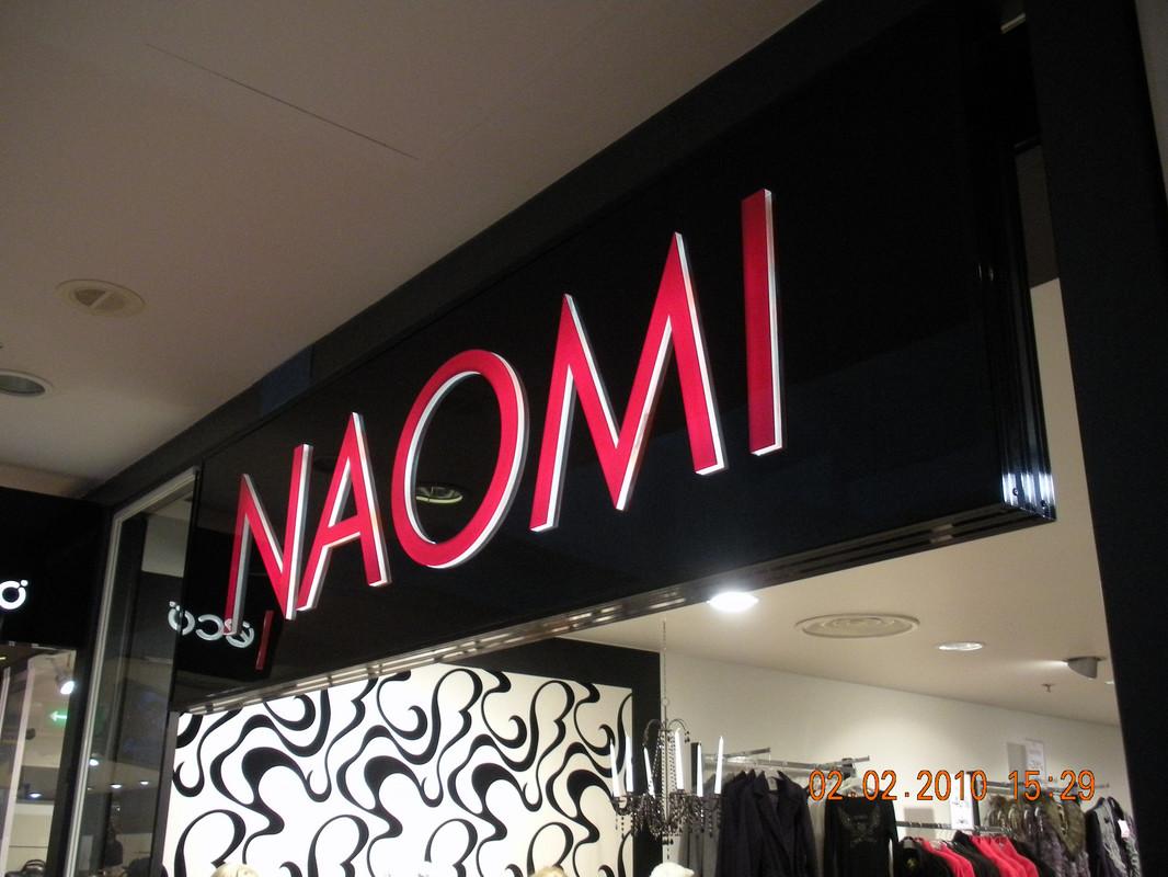 Naomi valgusreklaam