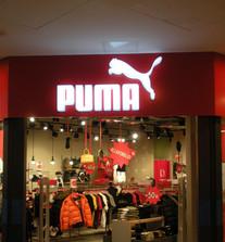 Puma valgusreklaam
