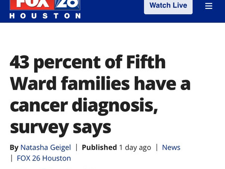 43 percent of Fifth Ward families have a cancer diagnosis, survey says | FOX 26 Houston