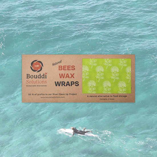 Green Beeswax Wraps - 3 sizes