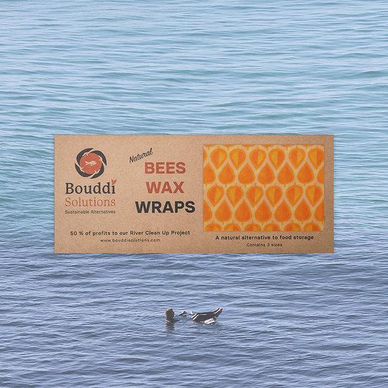 Orange Beeswax Wraps - 3 sizes