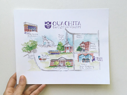 Ouachita Baptist University Landmark Map