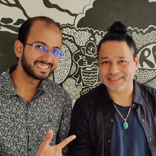 Bijay with Kailash Kher