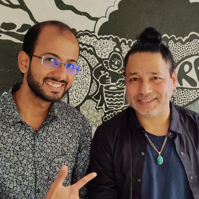 Bijay with Kailash Kher