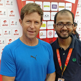Bijay with Cricketer Jonty Rhodes