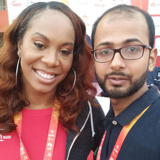 Bijay with 4X Olympic Gold Medalist Sanya Richard ross.jpg