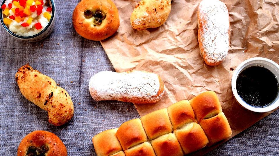天然魯邦菌種:硬式軟式麵包之變化(含抹醬)