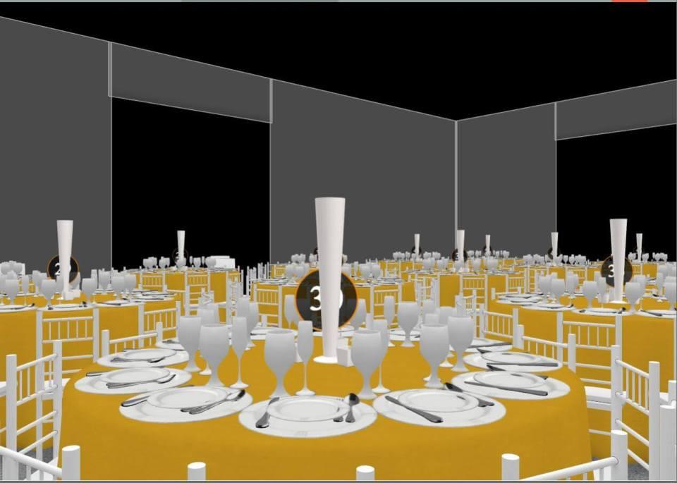 Sample floor plan created with Allseated app - @101eventsllc
