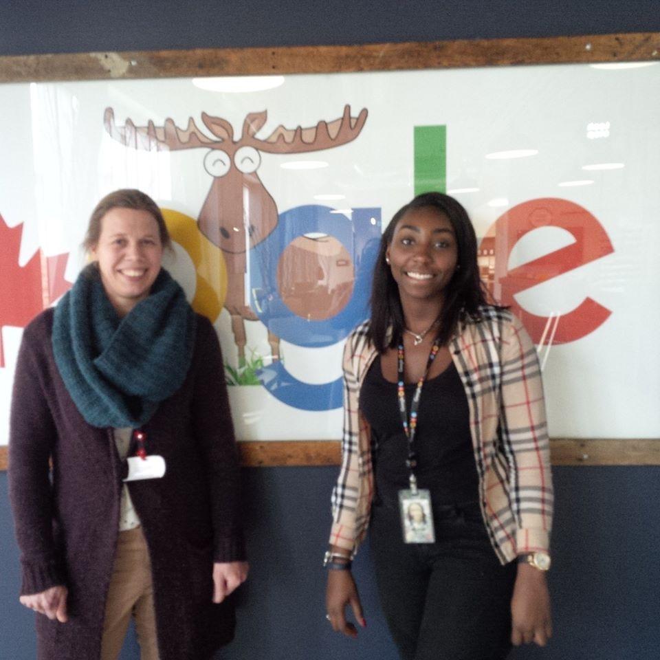 Akailah and kim at Google
