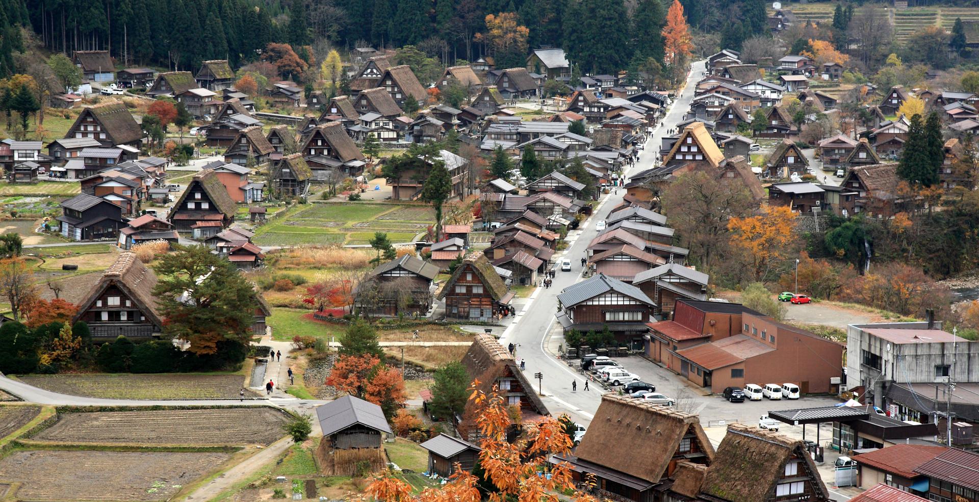 Famous traditional Japanese village Ogim