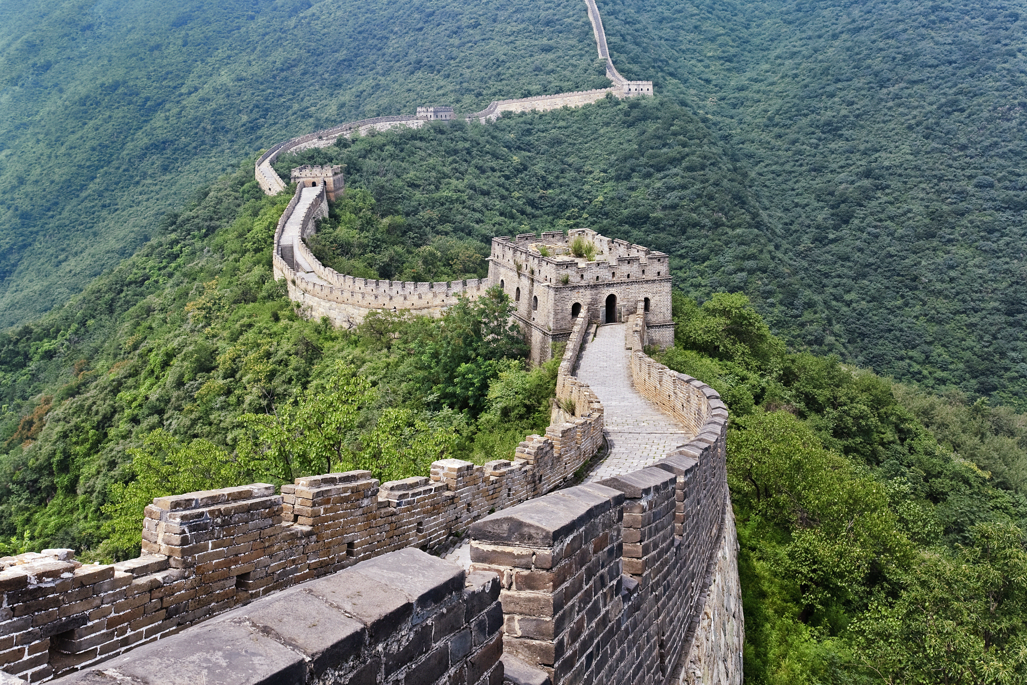 Magnificent view on the Great Wall, Beij
