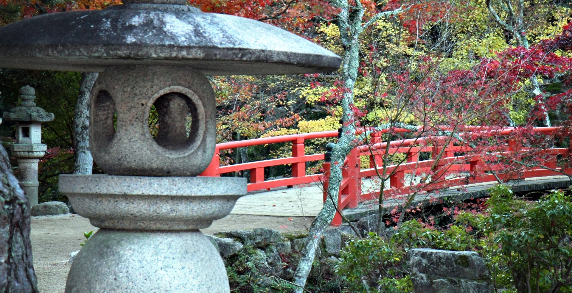 Lantern, Bridge and Autumn Colours in Mi