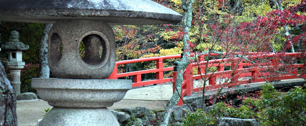 Lantern, Bridge and Autumn Colours in Mi