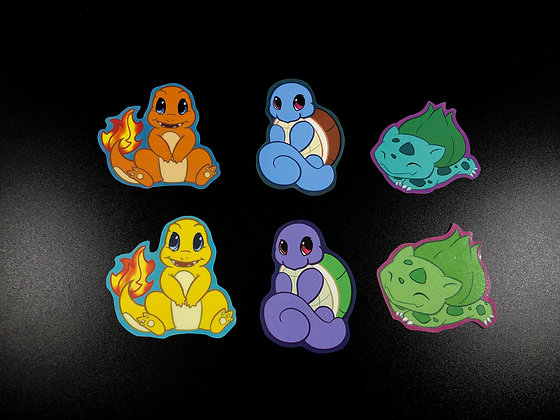 Starter Pokemon Sticker Pack