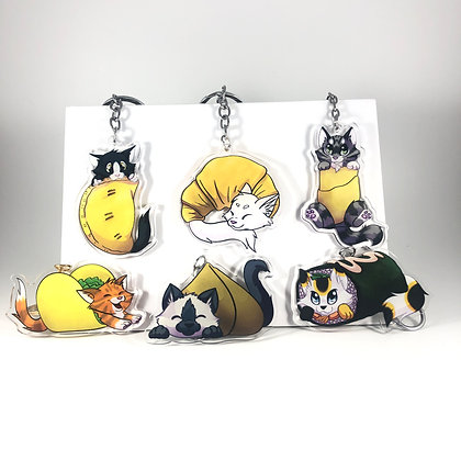 Food Kittens Acrylic Charms/Keychains