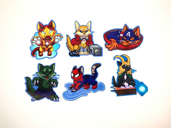 """Catvengers 3"""" Vinyl Stickers"""