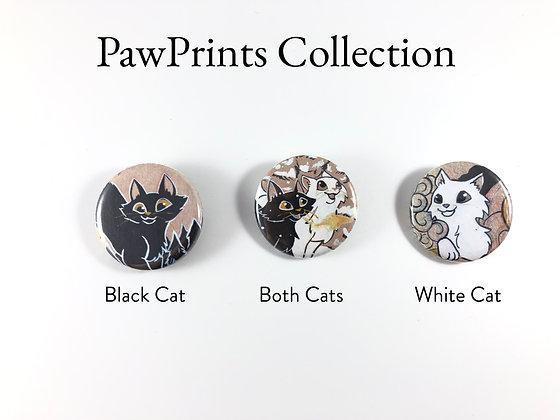 "PawPrints Set - 1.25"" Pinback Buttons"