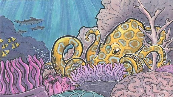 Octopus Garden - 5x7 Art Print