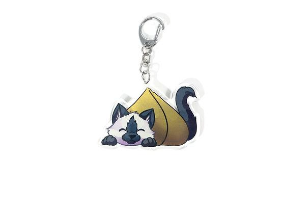 Samosa/Dumpling Kitten Acrylic Charm/Keychain