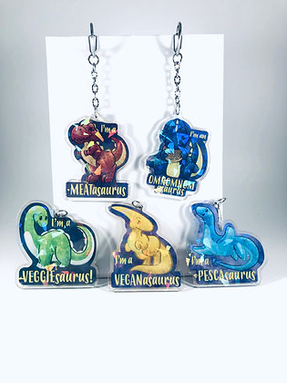 Dietary Need Dinosaurs Acrylic Charms/Keychains