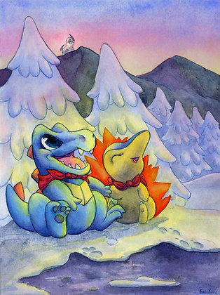 Pokemon Mystery Dungeon - 11x14 Art Print