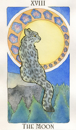 Animal Nouveau Tarot - The Moon 11x17 Print LIMITED EDITION