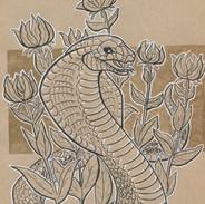 Fire Lillies Snake