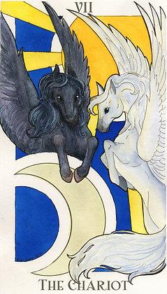 Animal Nouveau Tarot - The Chariot 11x17 Print