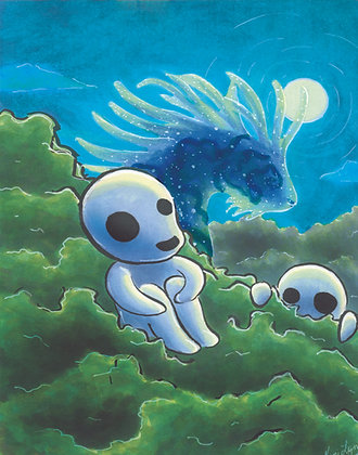 Kodama Night - Art Print