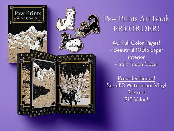 PREORDER Paw Prints Art Book PREORDER