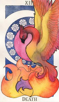 Animal Nouveau Tarot - Death 11x17 Print